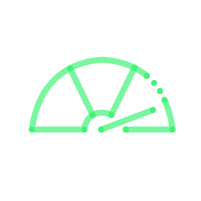 Meter icon green