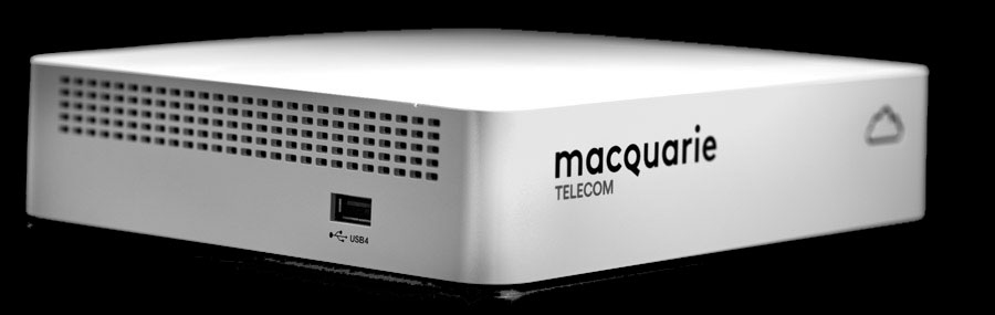 Macquarie Telecom SD-WAN Edge Box - all in one box you can roll out yourself. Unpack, plug in, and it's live.